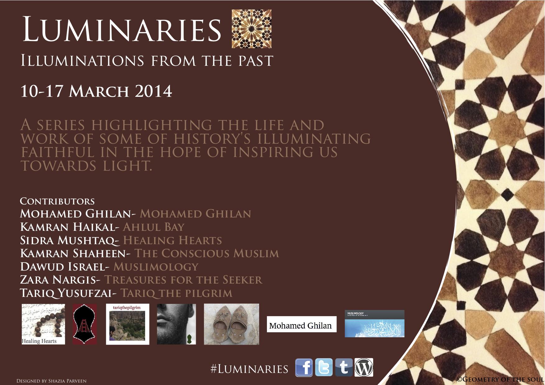 Luminaries flyer PNG image
